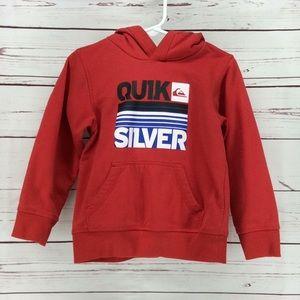 Quik Silver Boys Red Hoodie NWOT